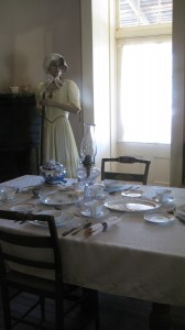 Dining Table inside the Quartermaster House
