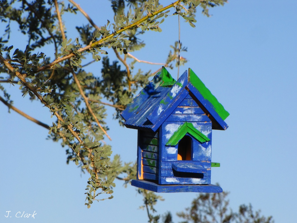 Blue Birdhouse 681
