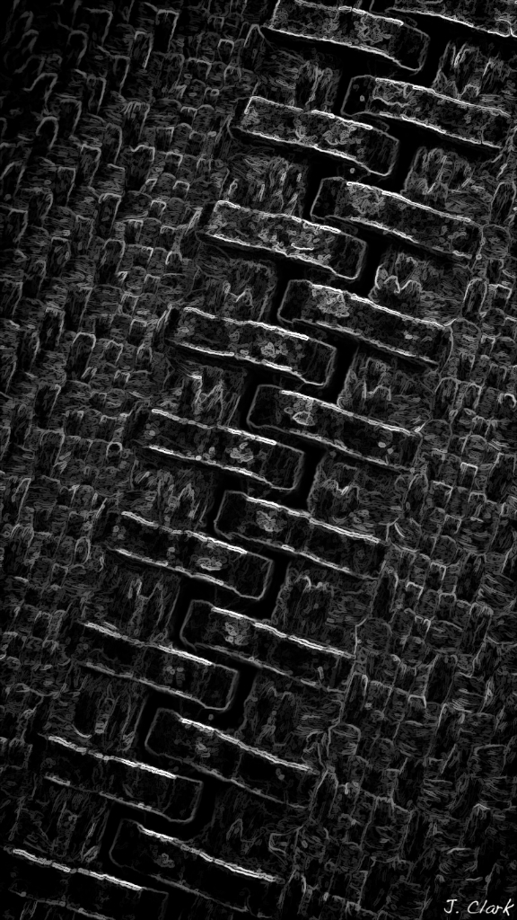 zipper simplify pencil on black 1747